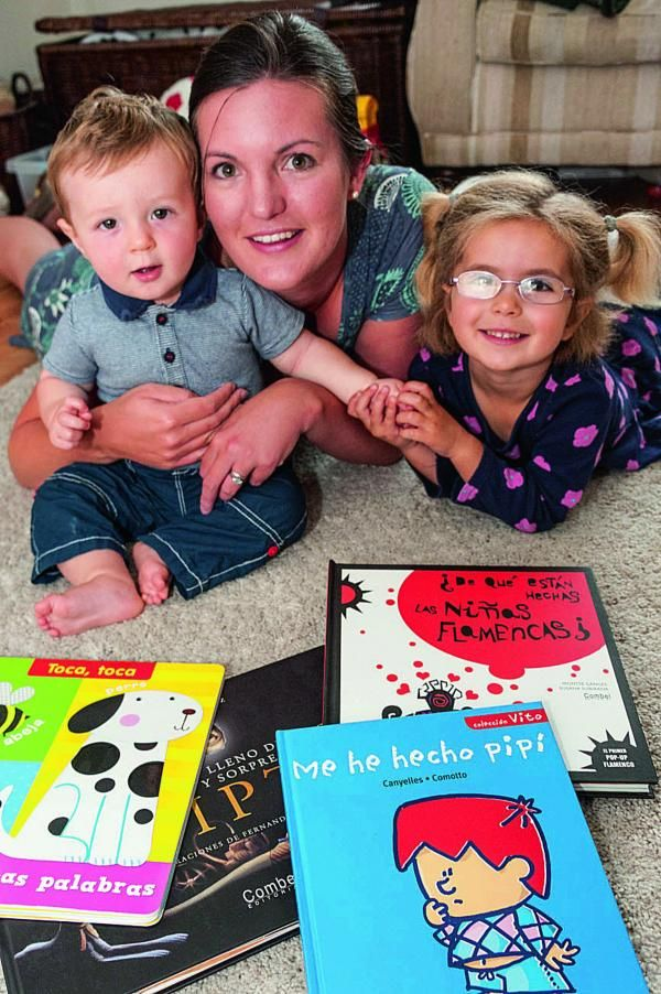 Cheryl Sánchez has been nominated for the 2014 Mumpreneur Awards for setting up and running her bilingual children's book company while raising 10-month-old Oscar and Emma, now three and a half