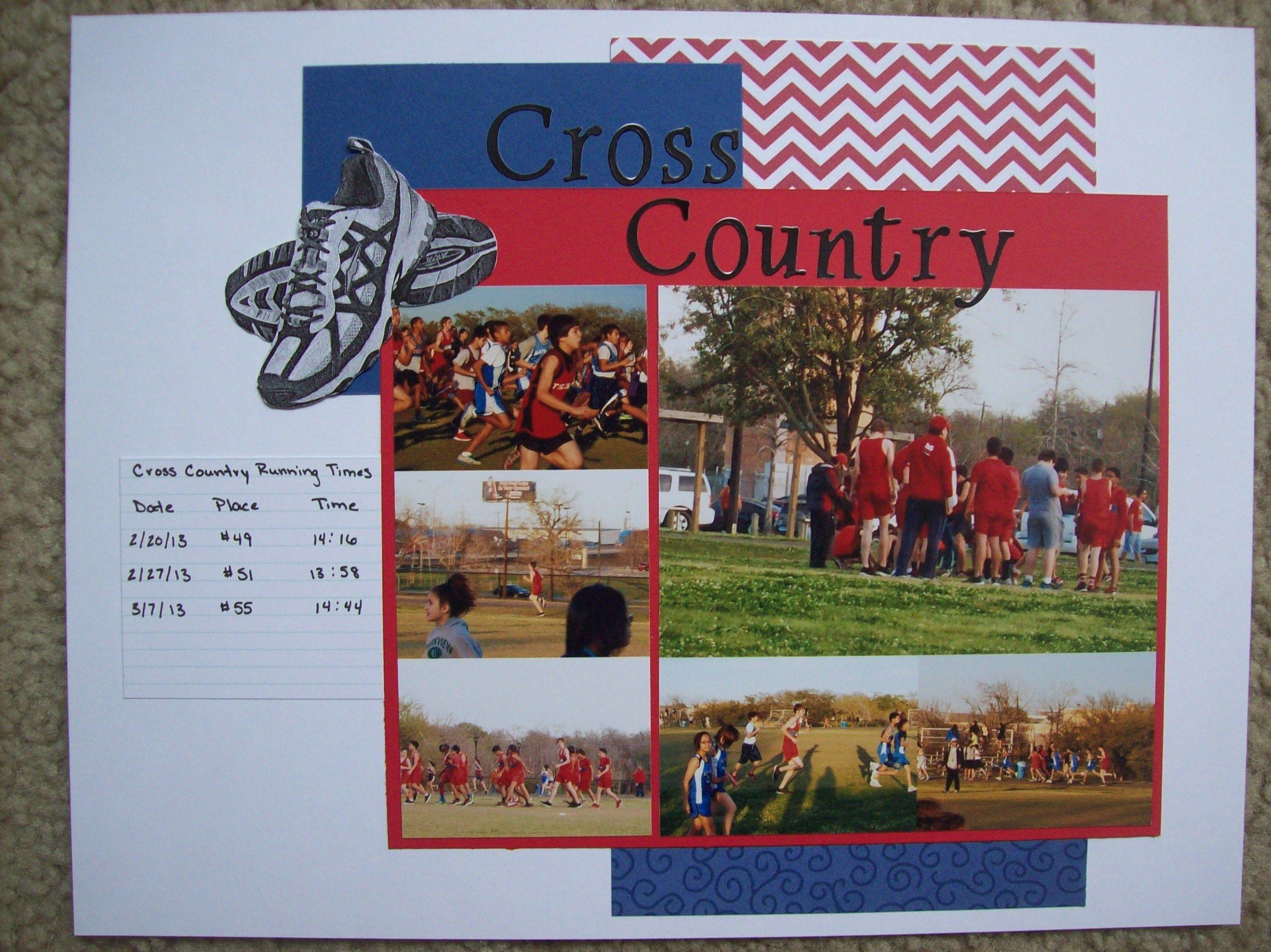 Running scrapbook ideas - Cross Country Scrapbook Com