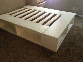 Metalen Bedframe 1 Persoons.1 Persoons Bed Ombouw Van Geschaaft Steigerhout Met