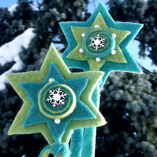 Anleitung: Tannenbaum- und Sternstecker aus Filz basteln #christbaumschmuckbastelnkinder