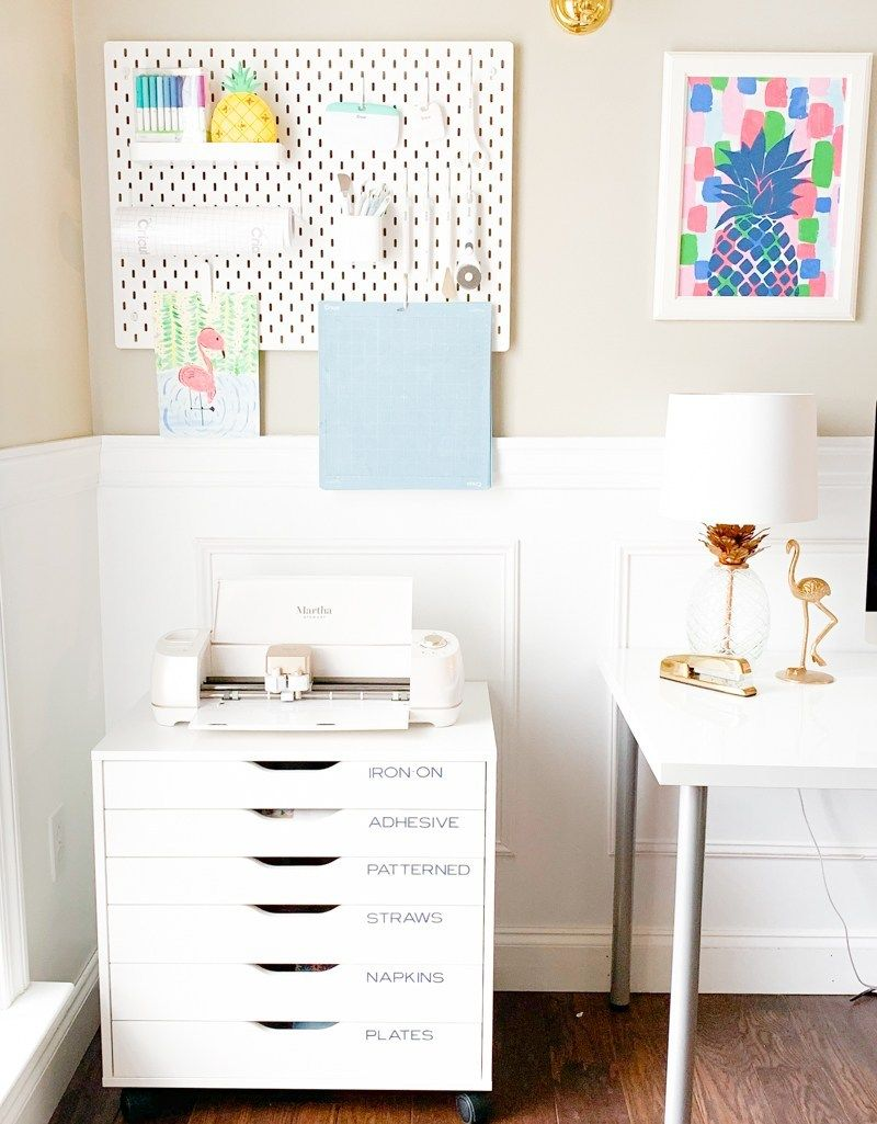 Cricut Craft Room Organization Ideas #cricutcrafts