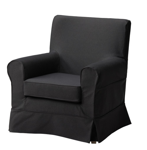 IKEA Ektorp Jennylund chair in black Slipcovers for