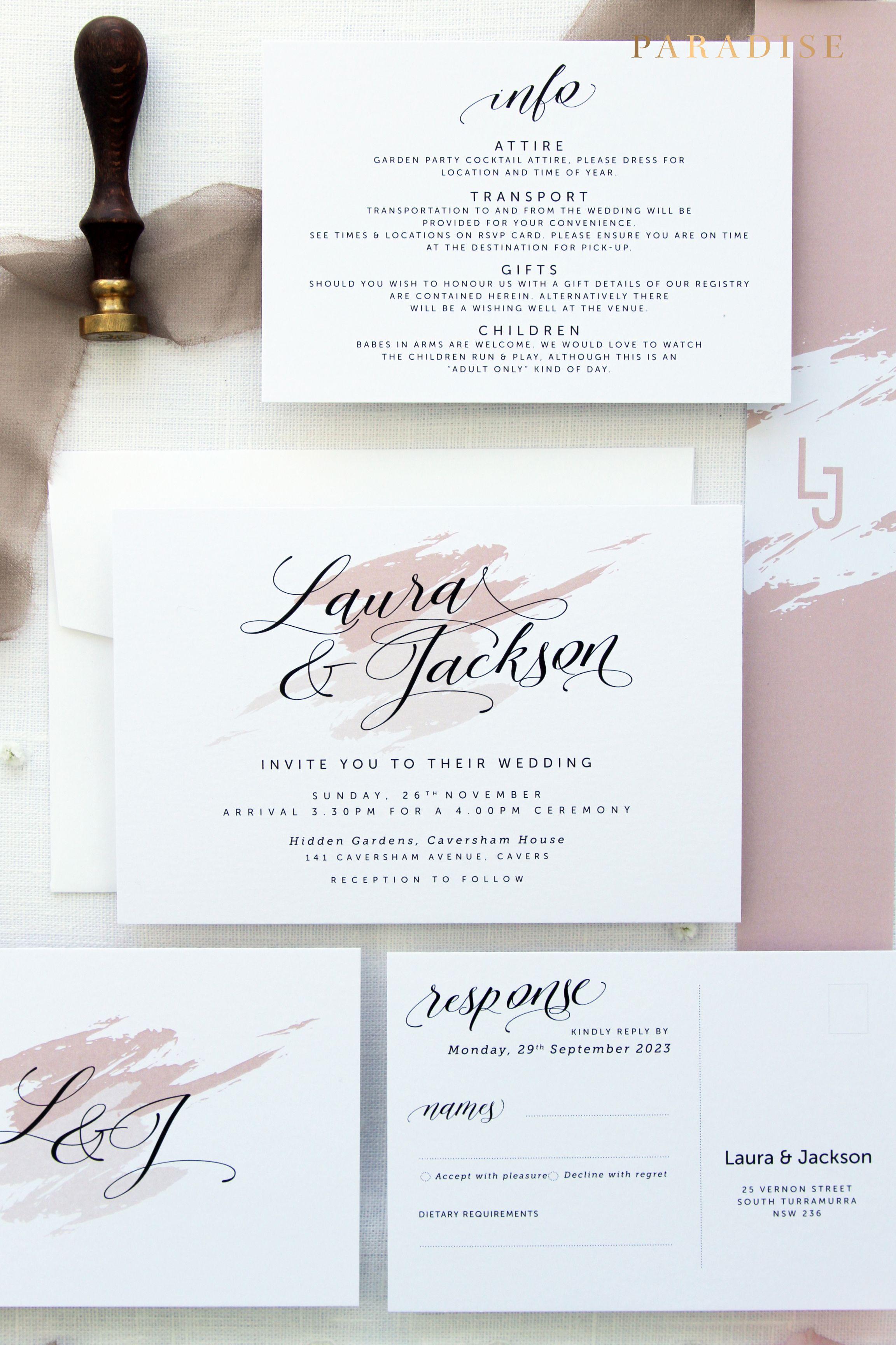 Mikaela Wedding Invitation Sets, Printable Wedding Invitations or ...