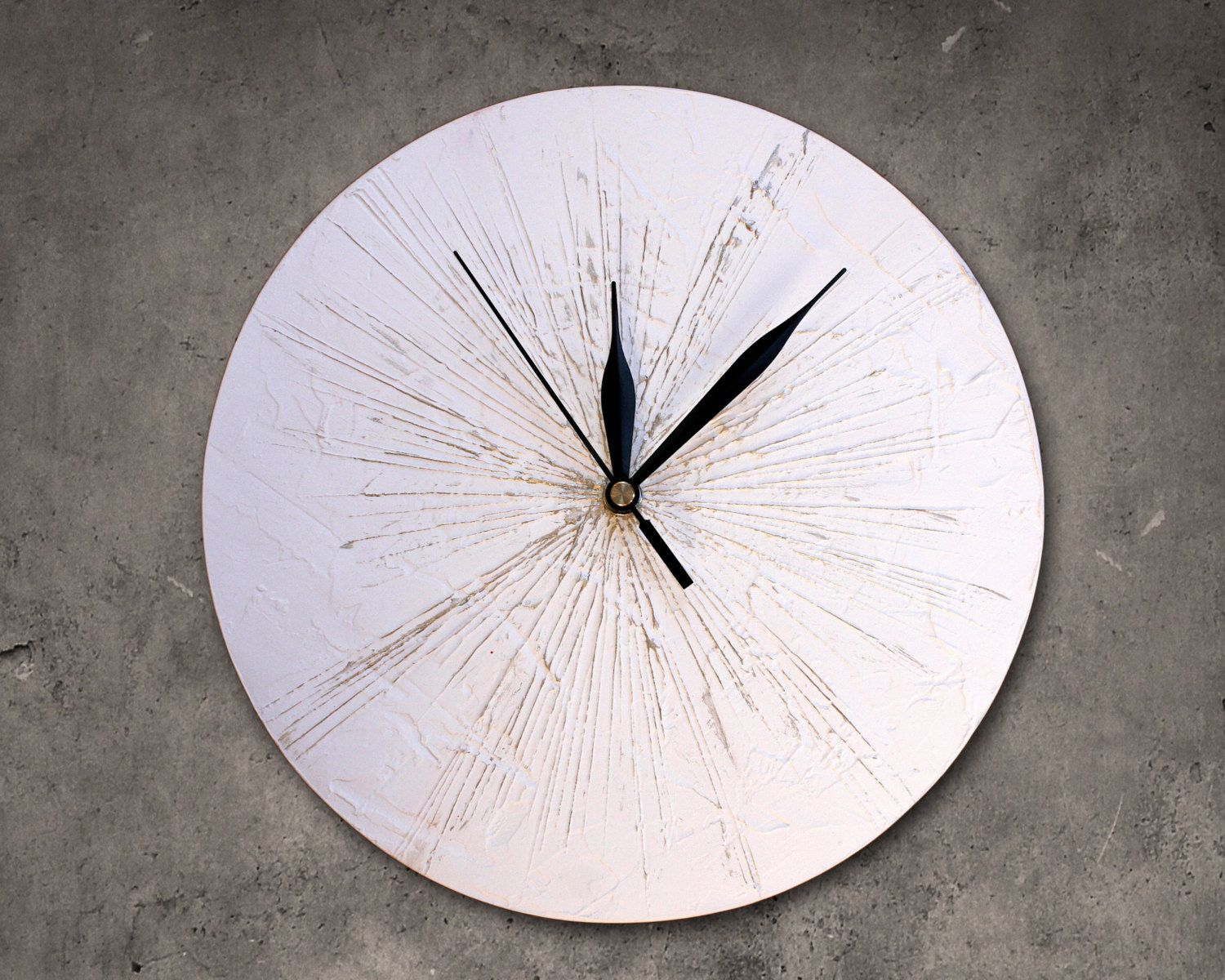 office wall clocks large. White And Gold Wall Clock, Modern Unique Clock Art Office Clocks Large A