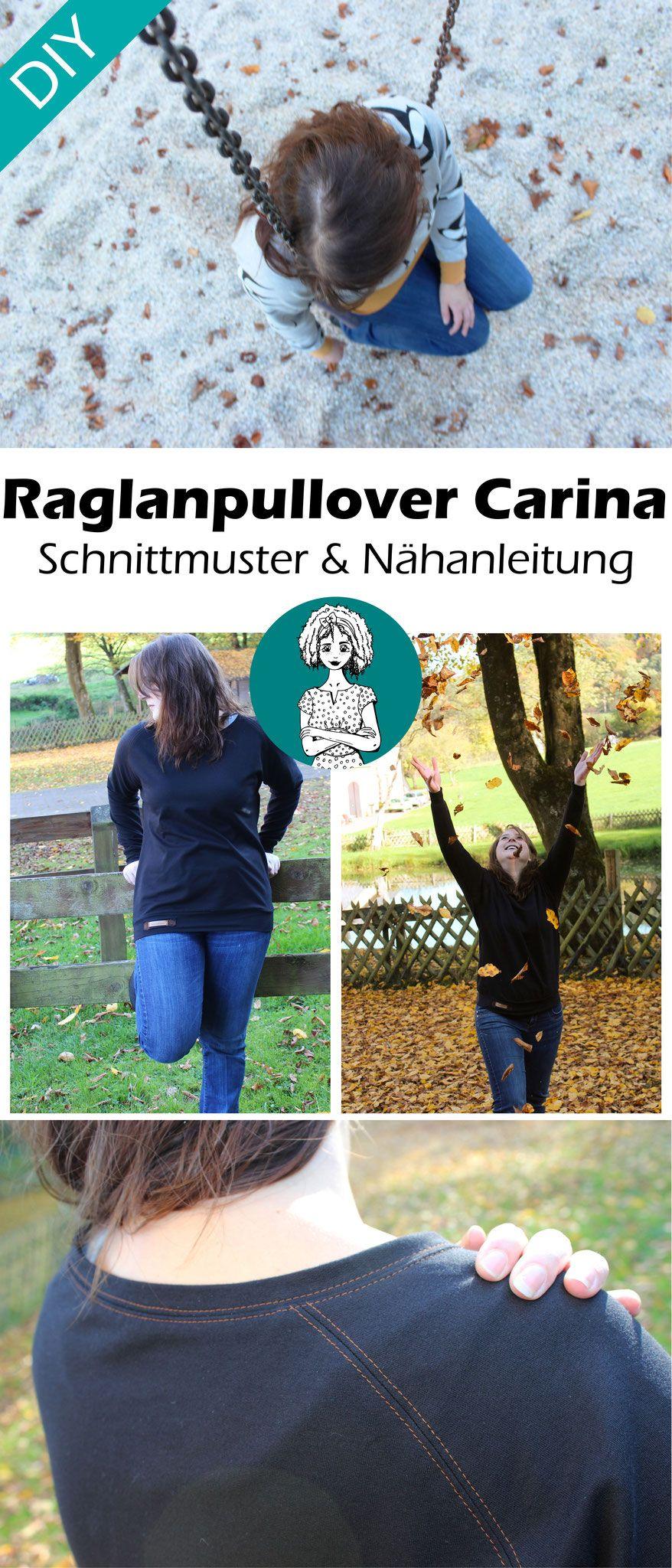 Schnittmuster Raglanpullover \