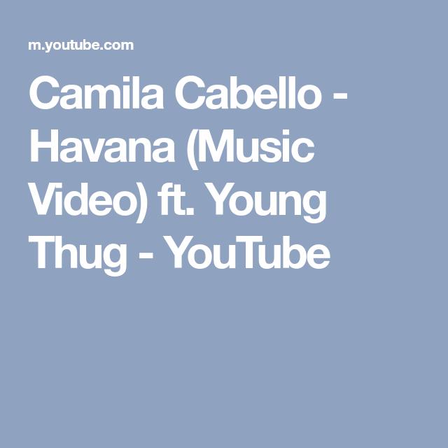 youtube havana music video