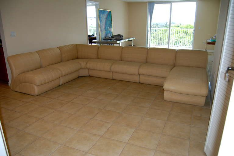 Gentil 7 Piece Pierre Cardin Sectional Sofa