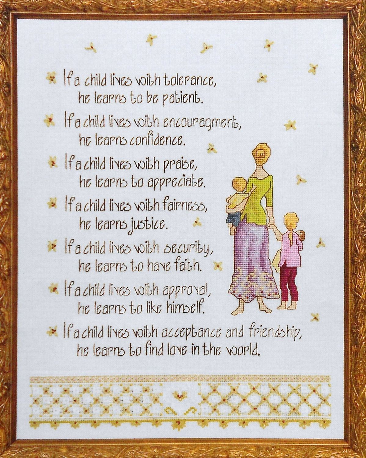 Point De Croix Poeme Enfants Cross Stitch Poetry For