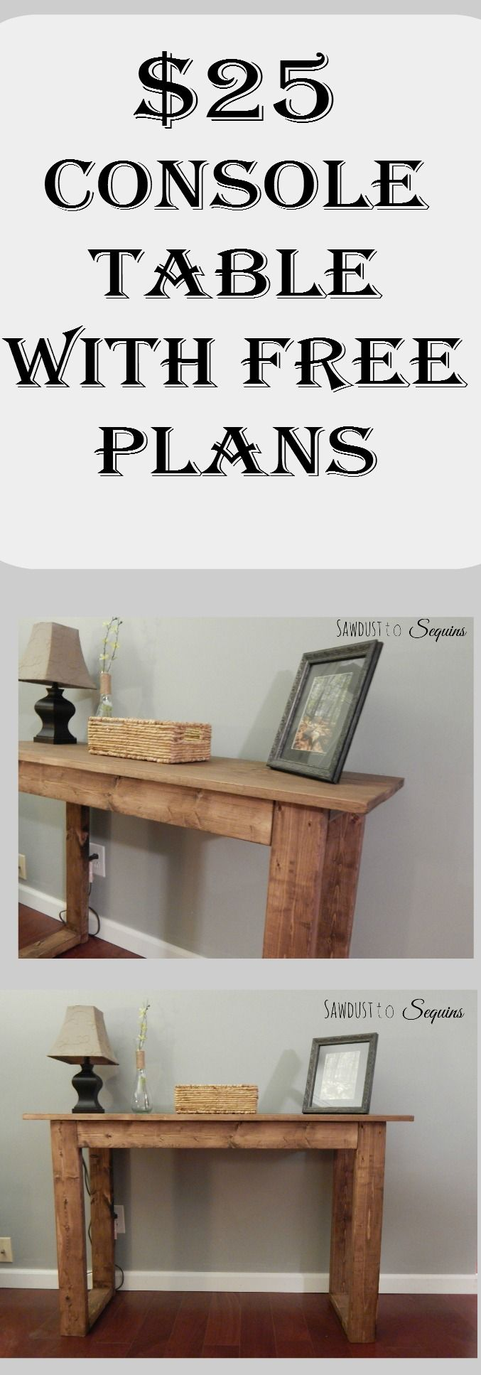 25 Console Table with Free Plans Diy furniture plans