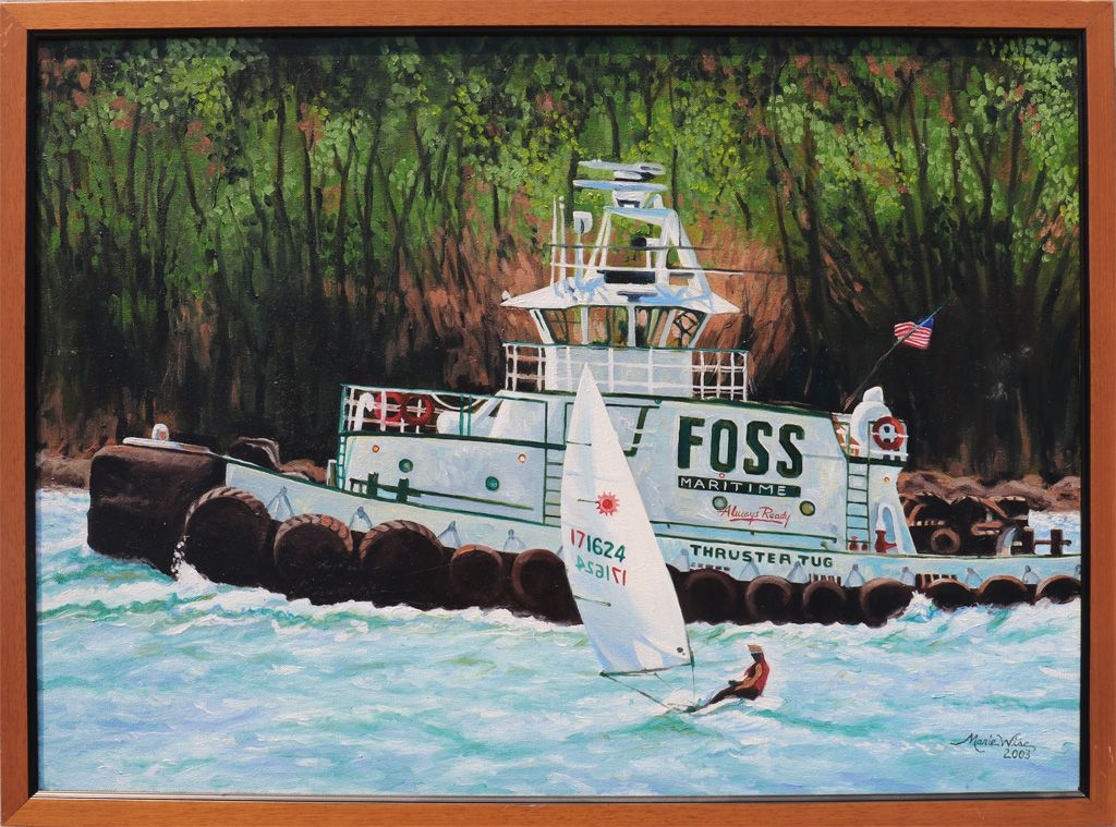 Foss maritime tugboat by marie wise tug boats tug