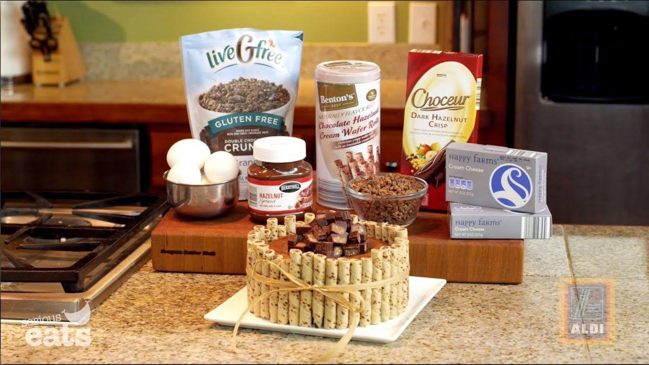 Glutenfree chocolate hazelnut cheesecake with aldi and