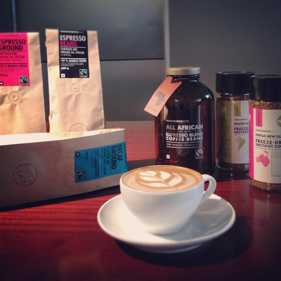 Woolworths South Africa's fair trade coffee range. hmmmmm
