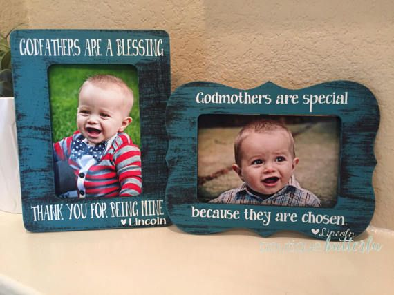 Godparent frame gift set of 2 frames for godmother godfather ...