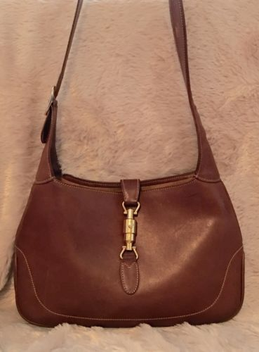 Ultra Rare Vintage Gucci Jackie O All Leather Soho Shoulder Bag Handbag  37114aeac12f8