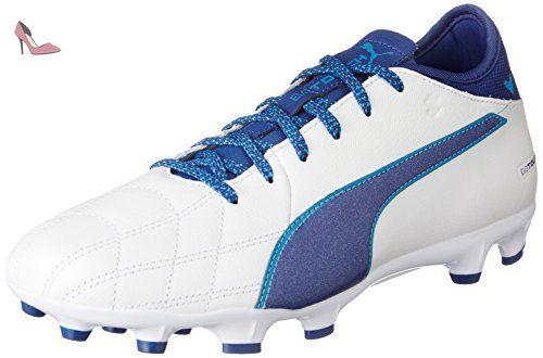 Evotouch 3 IT, Chaussures de Football Homme, Blanc White-True Blue-Blue Danube 02, 44 EUPuma