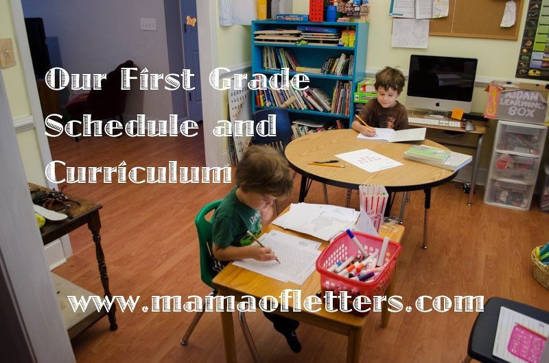 Photo of Our 1st Grade Homeschool Schedule and Curriculum