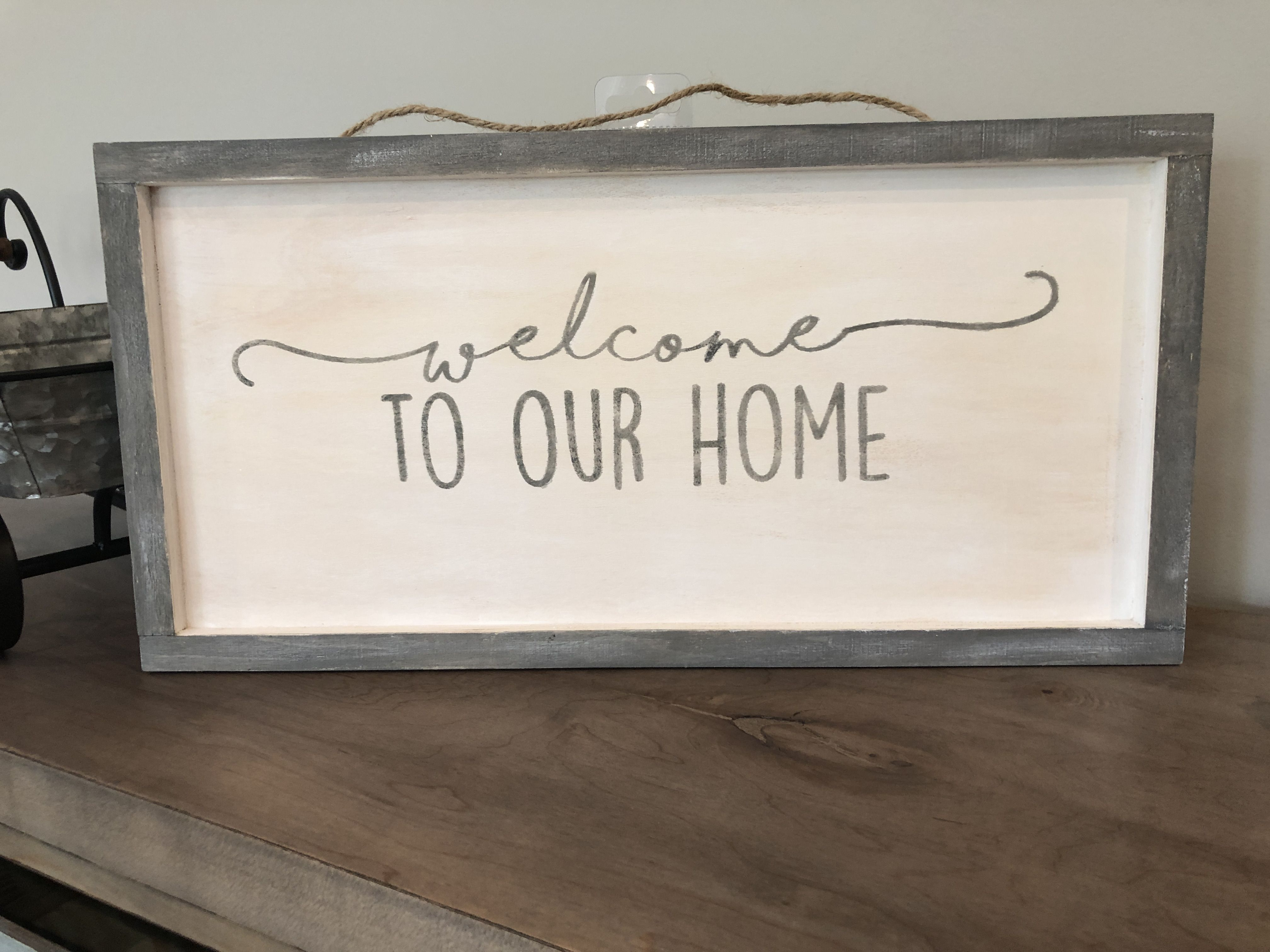 Lettere Da Appendere Al Muro welcome to our home, farmhouse style, framed sign, painted