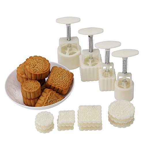 Lost Ocean Mid-Autumn Festival Hand-Pressure Moon Cake Mould with 12 Pcs Mode Pattern for 4 S... #mooncake