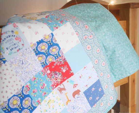 Patchwork Baby Grow Blanket Memory Quilt Memory Blanket Baby Clothes Quilt Custom