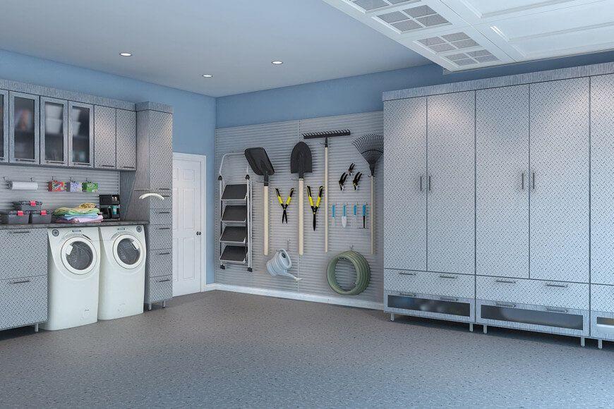 29 Garage Storage Ideas Plus 3 Garage Man Caves Garage Laundry