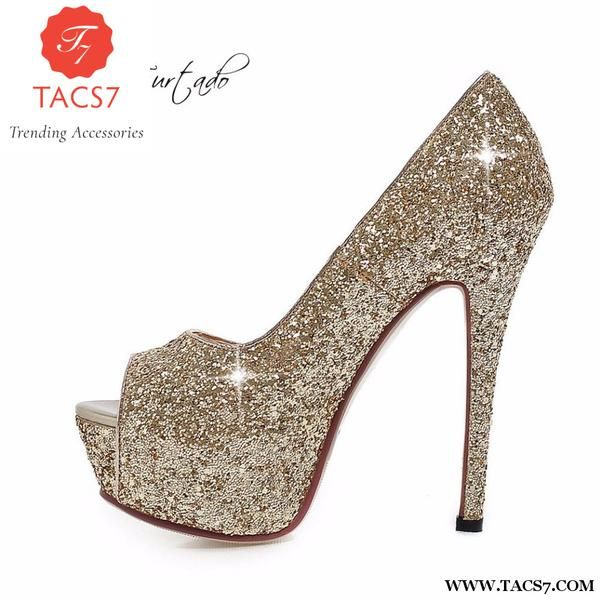 fe33232e502a8c Bling Fashion Woman Shoes Peep Toe Stilettos
