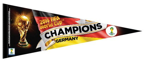 *SHIPS 8/1* Team Germany WORLD CUP 2014 CHAMPS Official Premium Felt Pennant