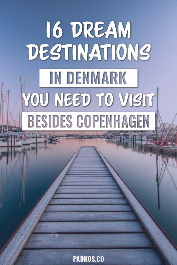 16 Dream Destinations in Denmark you need to visit, besides Copenhagen. Denmark has so many historic and beautiful places to go to. Copenhagen may be the main hub, but the rest of the country should be explored just as equally. From amazing sloping sand dunes & the world just nestling in the middle of a lake. You need to visit some of Denmark's other amazing places. | #Denmark #DenmarkTravel #Travel | Padkos.co