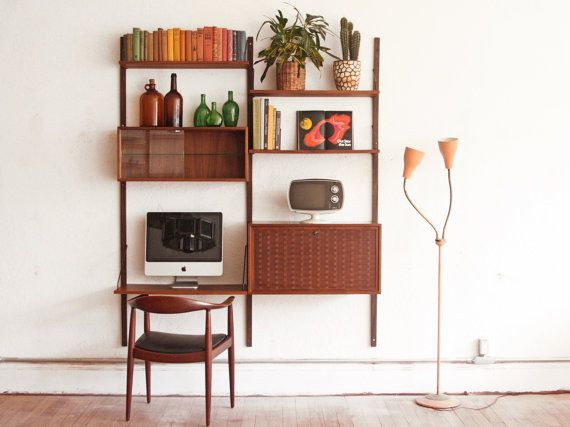 Cado Wall Unit Danish Mid Century Modular System Wall Unit Gallery Wall Living Room Furniture