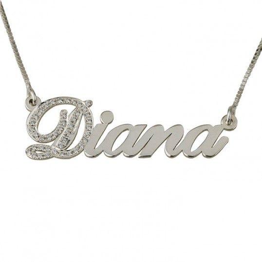 269b27ebedd0 Collar con Nombre y Circonitas en Plata de Ley - Seguimos innovando para ti.