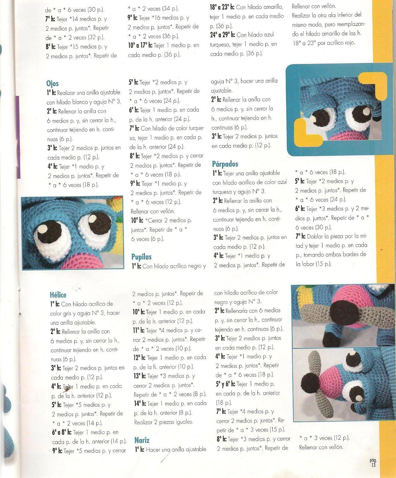Fany Crochet: avion amigurumi | Maricel | Pinterest | Patrón gratis ...