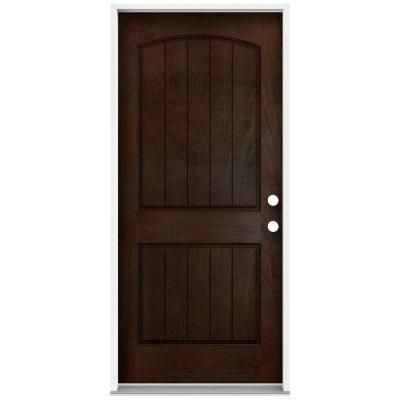 Jeld Wen 36 In X 80 In Architectural 2 Panel Arch Top Plank