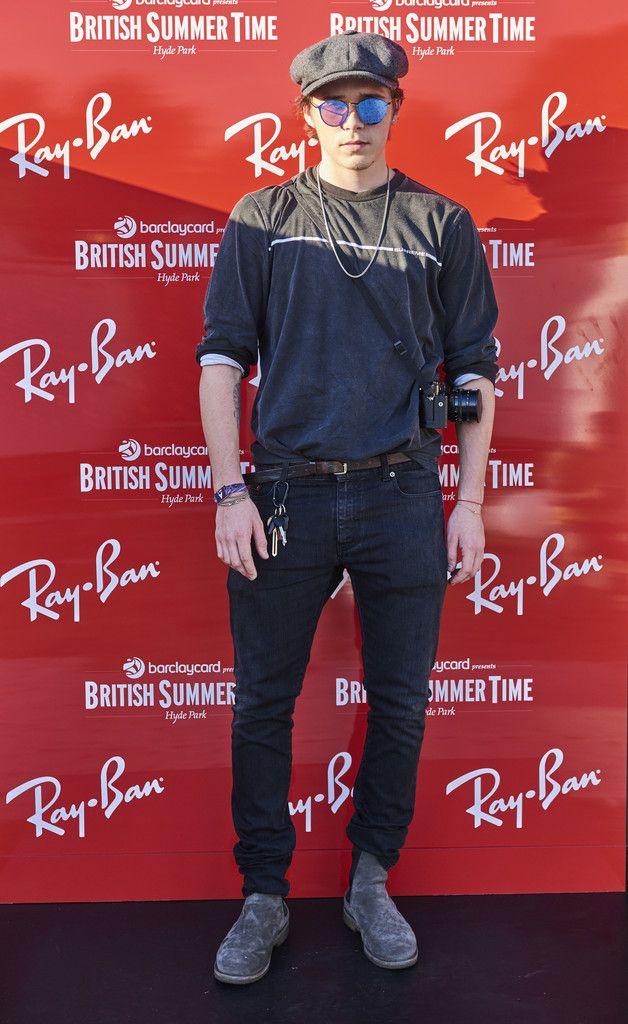 7f73832b70c Brooklyn Beckham Wears Supreme T-Shirt and Ray-Ban Sunglasses at British  Summertime at Hyde Park