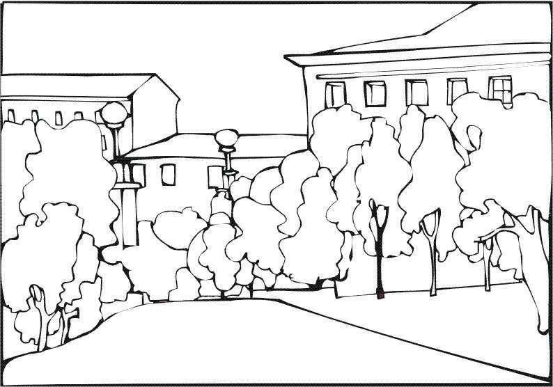 Disegni Da Colorare Per Adulti Paesaggio Di Città Home Decor