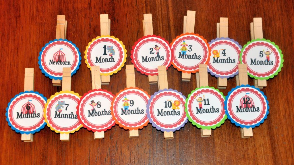 Circus Photo Clips Photo Banner First Birthday Carnival Clown - first birthday banner