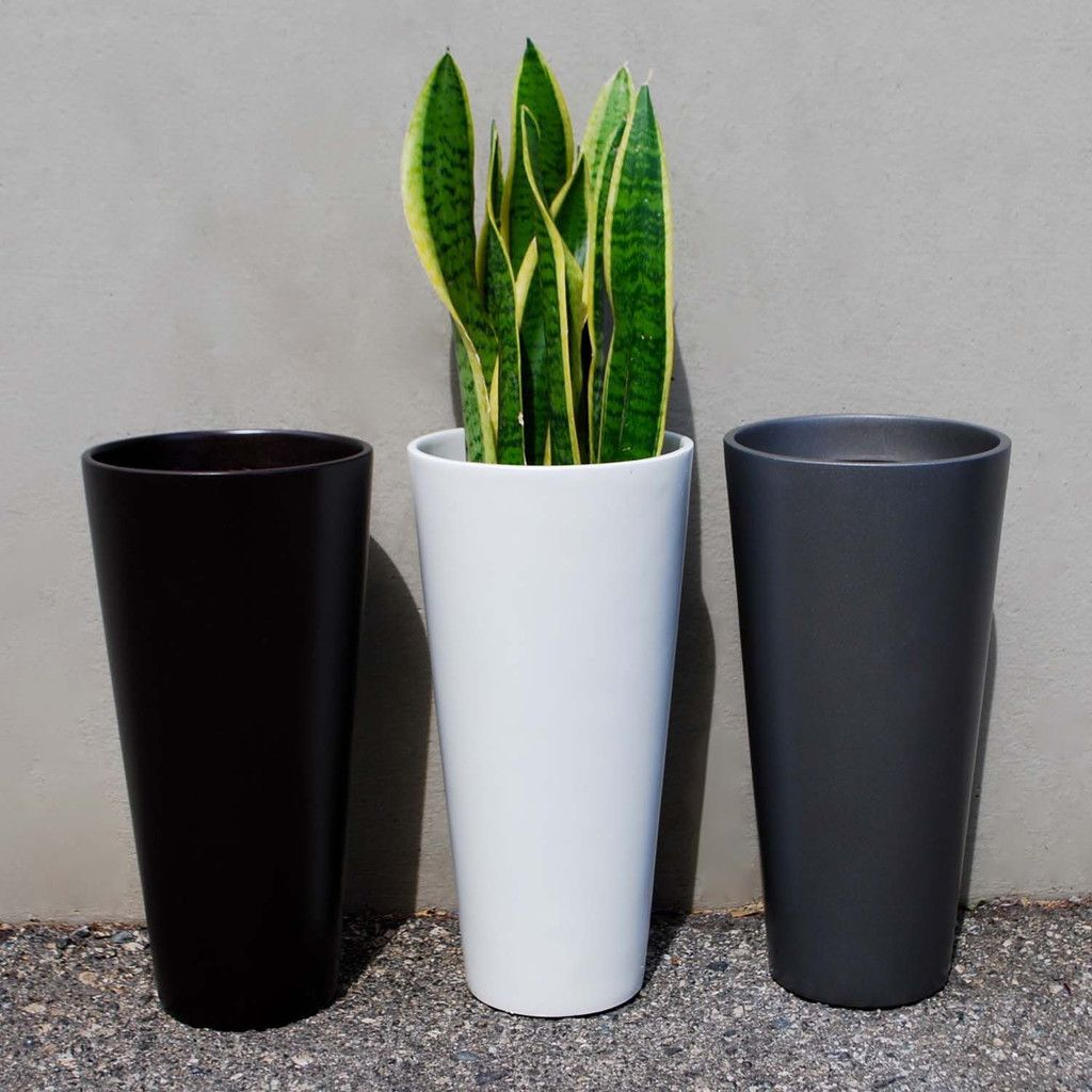 sonoma tall cylinder planter  white  planters indoor outdoor  - x  sonoma tall cylinder planter  white – root and stock