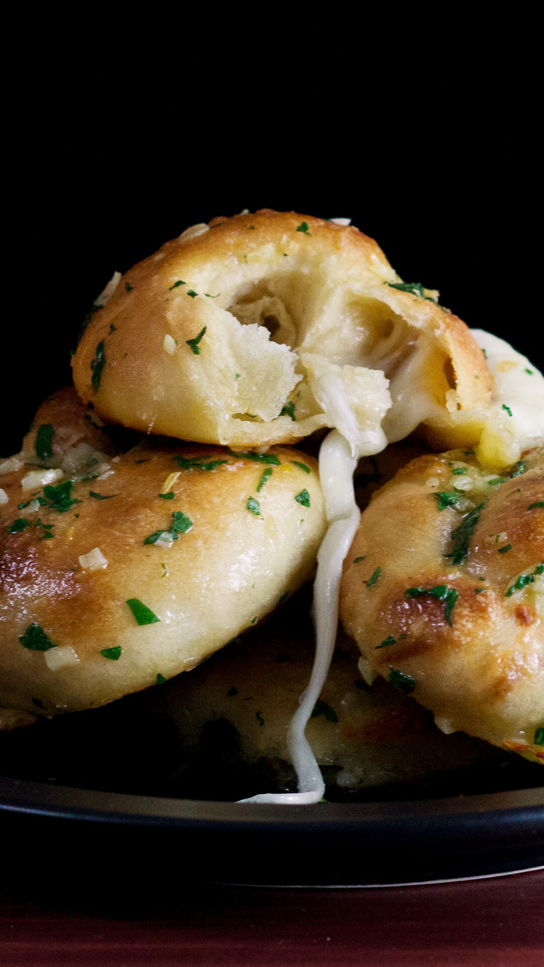 Mozzarella-Stuffed Garlic Knots