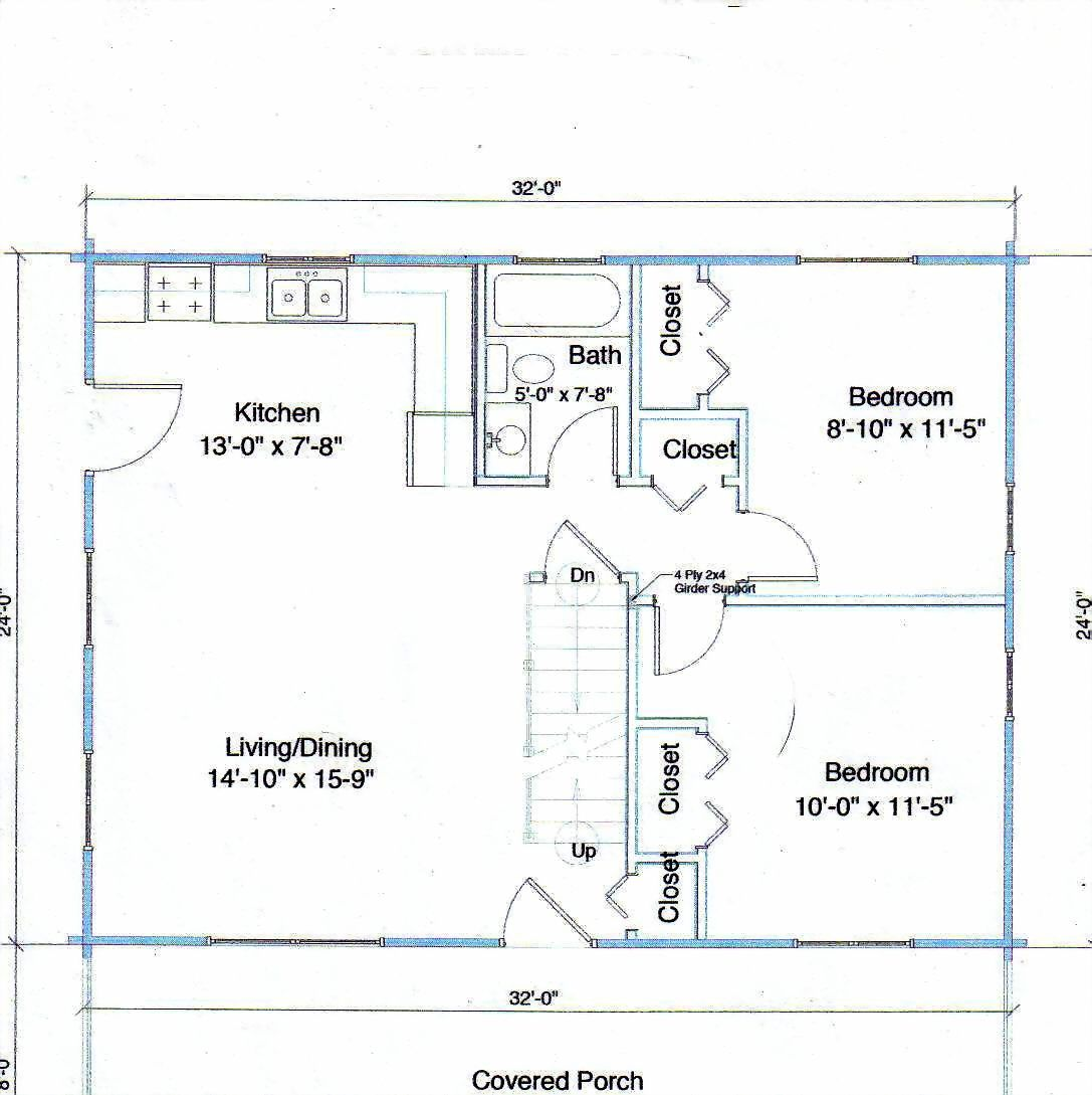 Instead of having a basement have a pantry space behind for Log home floor plans with garage and basement