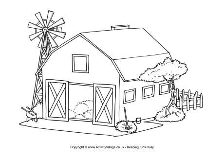 Barn Colouring Page House Colouring Pages Farm Coloring Pages