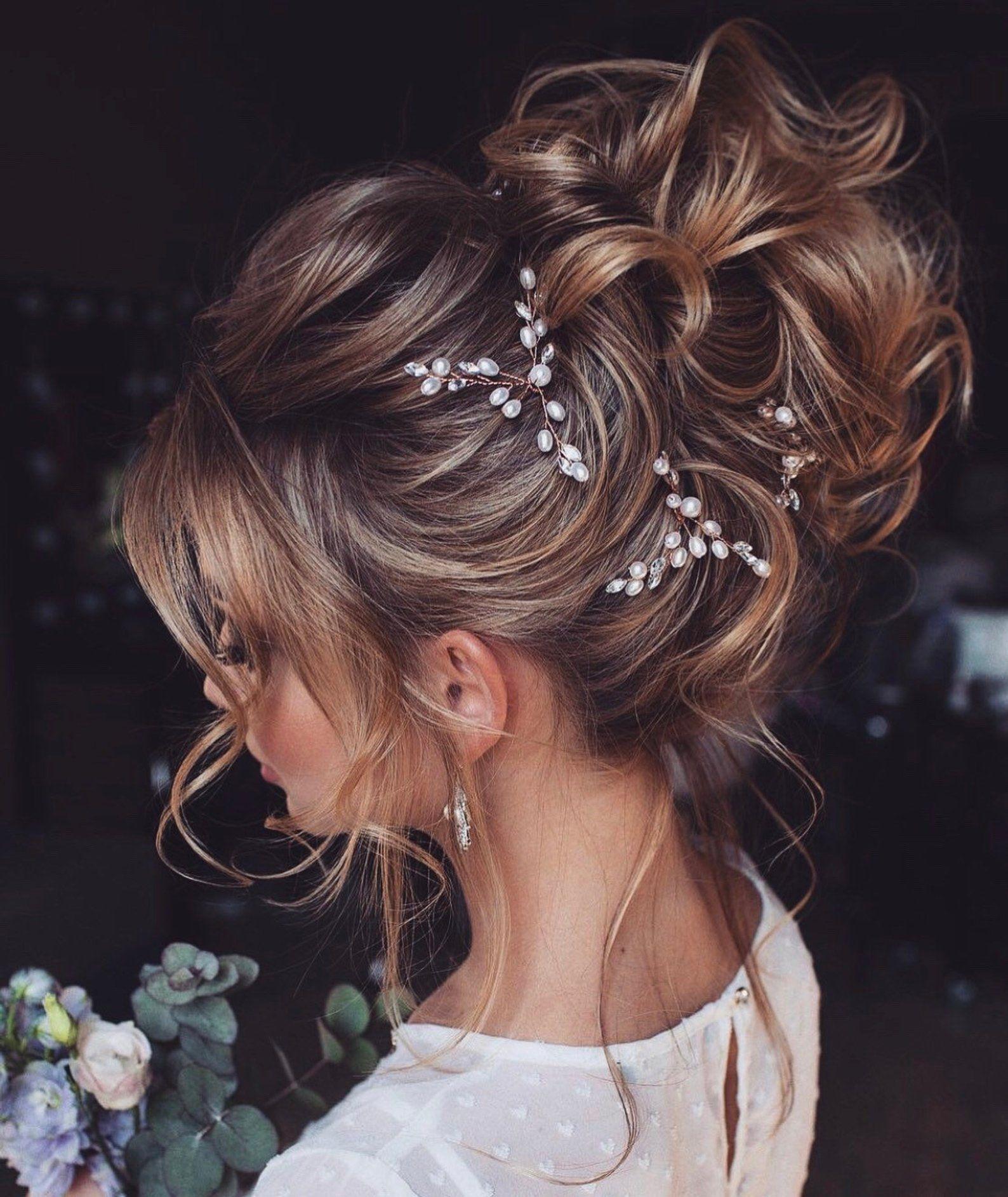 Bridal hair pins-Wedding hair pins-Pearl hair pins-Crystal | Etsy