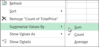 Click the button to change all selected pivot fields to SUM in an #Excel pivot table. Download the sample file, to see how this macro works.