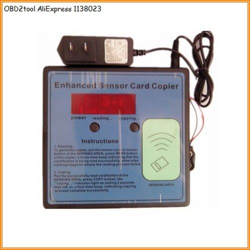 OBD2tool AQkey Enhanced Sensor Card Copier ID Card Duplicate RFID - copy garage blueprint maker