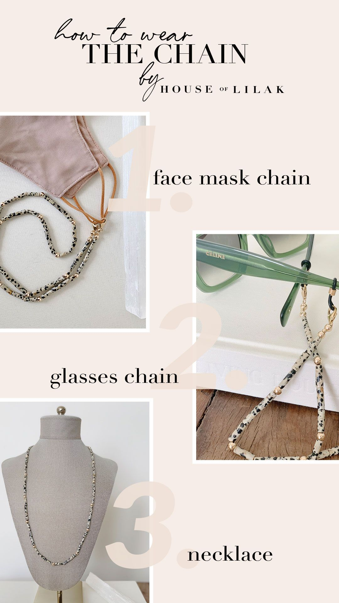 Beaded Glasses Chain Face mask lanyard Handmade Face mask necklace with clips Beaded holder Jasper stone mask holder Beaded mask chain