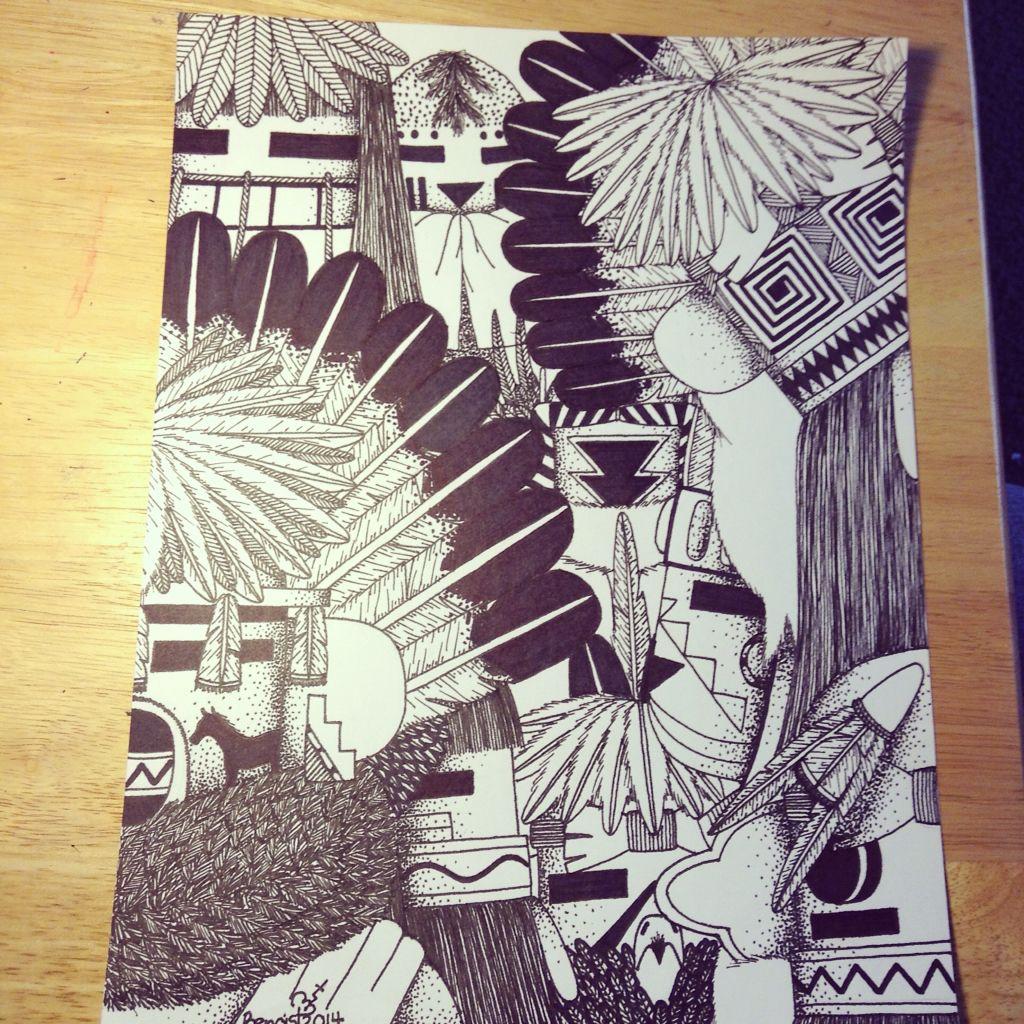 "Mixed Kachinas ""Hopi Art""   Native art, Native american ...  Hopi Drawings"