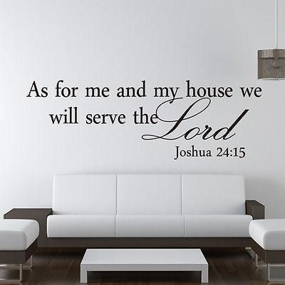 "as for me and my house"" wall decal 
