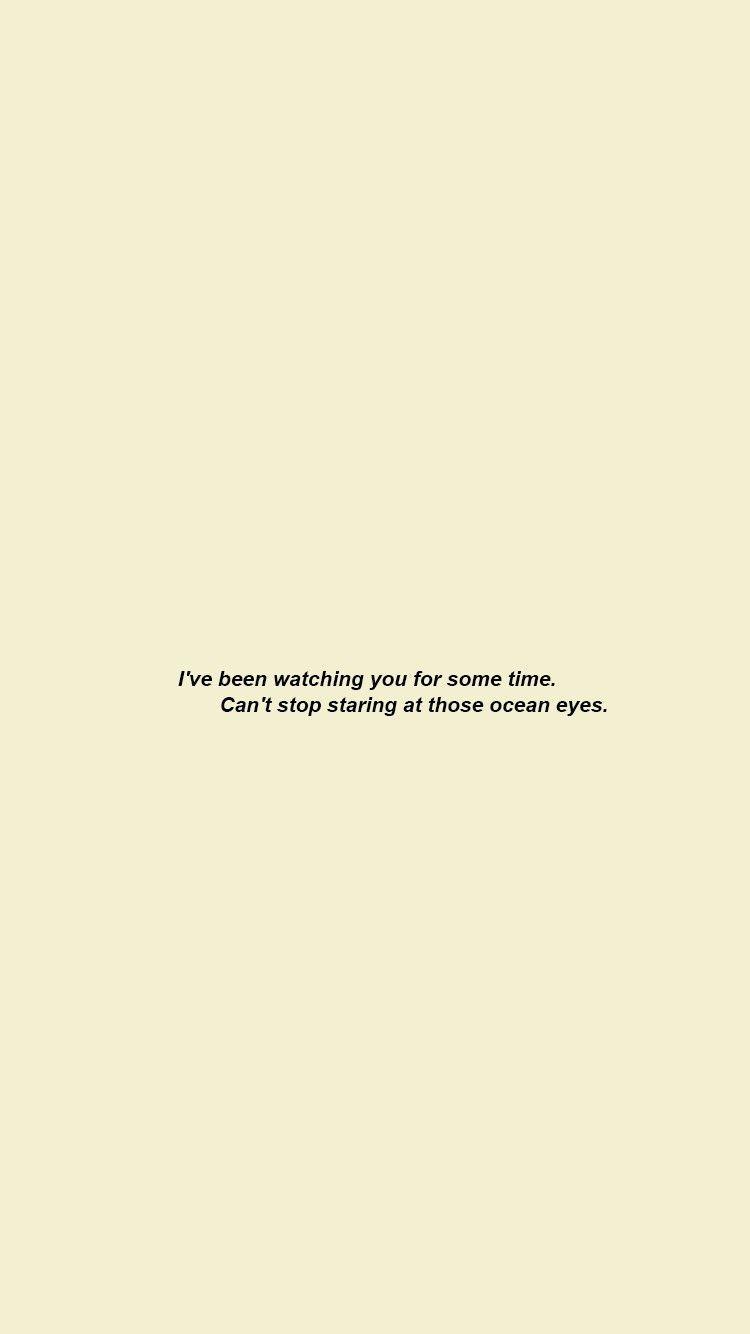 Song Lyrics Quotes Billie Eilish Oceaneyes Billieeilish Ocean