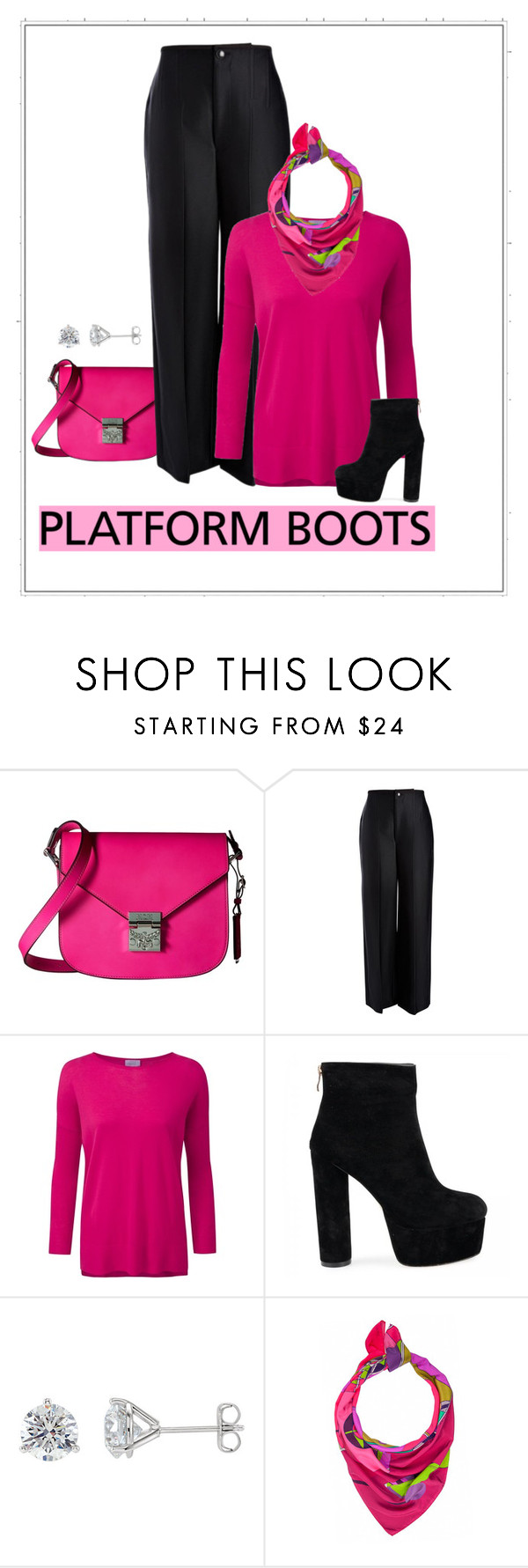 """""""Standing Tall"""" by patricia-dimmick on Polyvore featuring MCM, Joseph, Pure Collection, Taisir Gibreel and PlatformBoots"""
