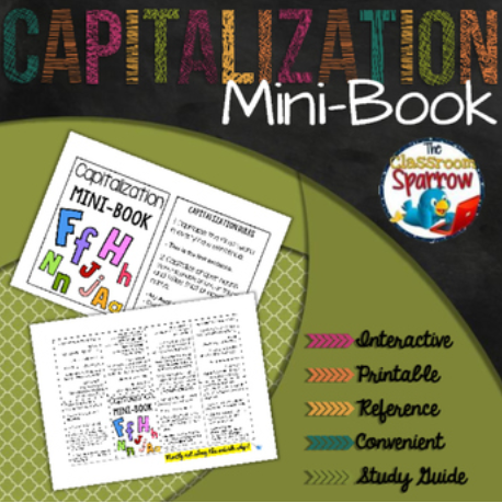 Capitalization Rules Mini Book A Perfect Addition To An Interactive