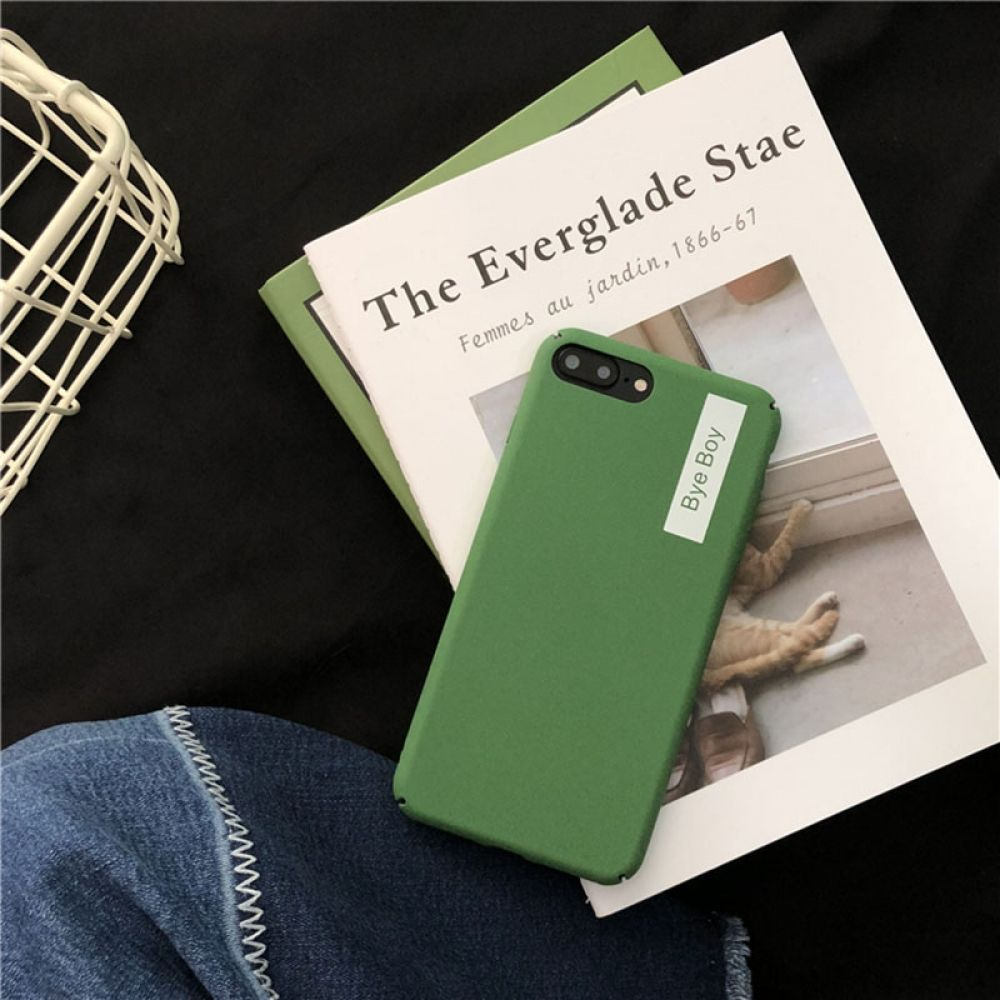 Bye boy solid color case iphone cases for iphone x xs