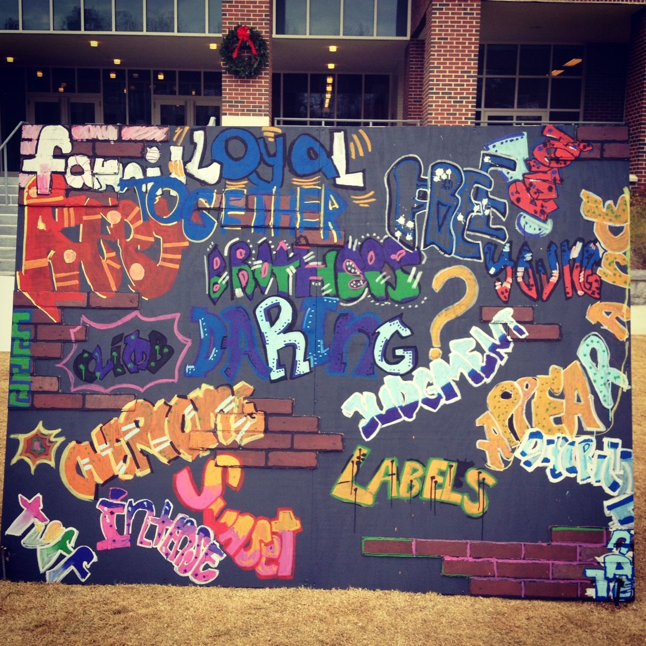Graffiti wall training - Middle School Graffiti Wall Expresses Literary Themes From The Outsiders