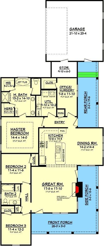 Plan 11755HZ Cozy 3 Bedroom Cottage House Plan in 2018 Projet